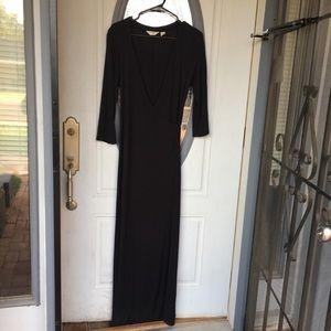 J. Jill long sleeved elegant formal maxi dress EUC